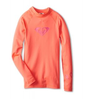 Roxy Kids Whole Hearted L/S Surf Shirt Girls Swimwear (Pink)