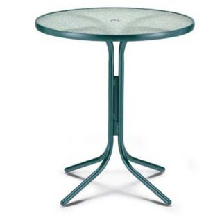 Telescope Casual 36 in. Round Glass Top Patio Bar Height Dining Table   5205