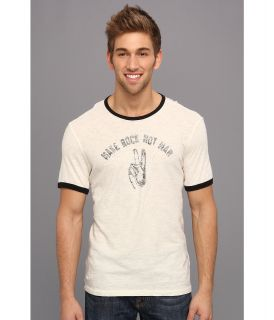 John Varvatos Star U.S.A. Make Rock Not War Tee K1911Q1B Mens T Shirt (White)