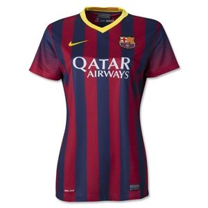 Nike Barcelona 13/14 Womens Home Soccer Jersey