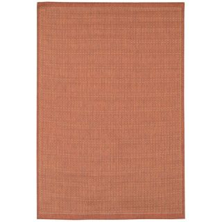 Couristan Recife Saddle Stitch Indoor/Outdoor Area Rug   Terra Cotta/Natural
