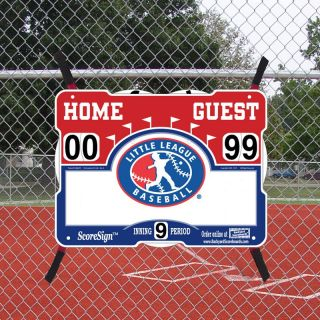 ScoreSign Little League Baseball Portable Scoreboard Multicolor   201 0010