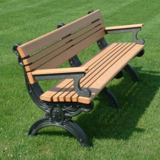 Cambridge Commercial Grade Park Bench   ASM CB4BA 01 BLK BLK