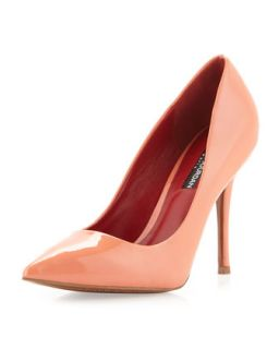 Hunter Patent Pointed Toe Pump, Rose
