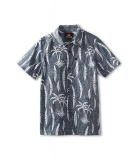Quiksilver Kids Vagabundos S/S Woven Boys Short Sleeve Button Up (Navy)