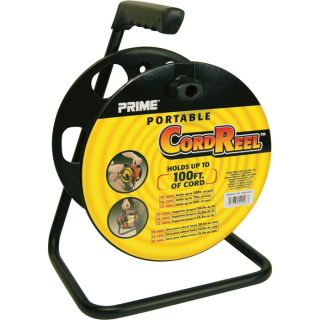 Prime Wire & Cable Portable Cord Reel with Metal Stand   Model CR003000