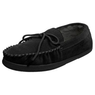 Mens Bosto Faux Suede Slippers Black 10
