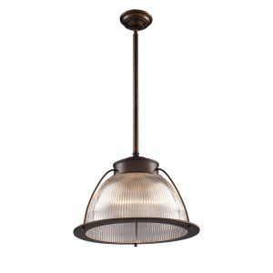 ELK Lighting ELK 60014 1 Halophane 1 Light Pendant