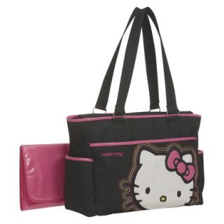 Hello Kitty Diaper Bag Tote   Black