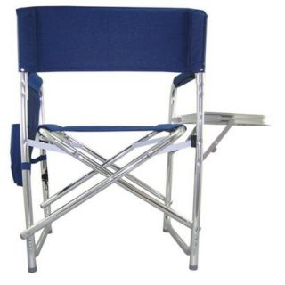 Picnic Time Sports Chair With Table and Pockets   Navy