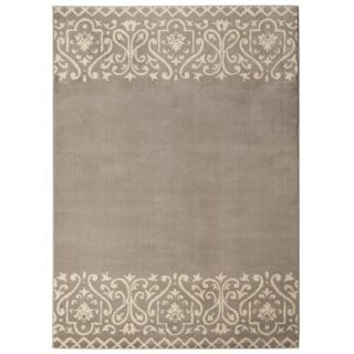 Threshold Scroll Border Area Rug   Gray (5x7)