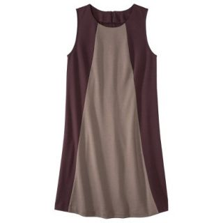 Mossimo Womens Colorblock Shift Dress   Berry/Timber M