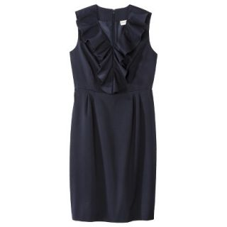 Merona Petites Sleeveless Sheath Dress   Blue 16P