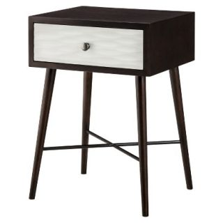 Accent Table Threshold Modern Accent Table with Drawer   Dark Brown