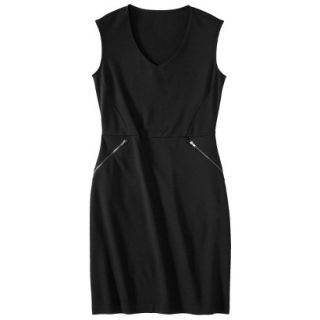 Mossimo Womens Ponte Sleeveless Dress w/ Zippered Pockets   Black M