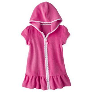 Circo Infant Toddler Girls Hooded Cover Up Dress   Pink 12 M