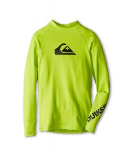Quiksilver Kids All Time L/S Surf Shirt Boys Swimwear (Green)