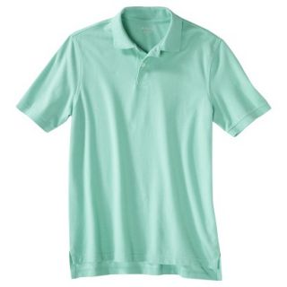Mens Classic Fit Polo Shirt Light Blue Water Slide S