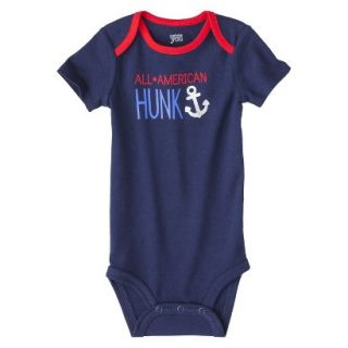 Just One YouMade by Carters Newborn Boys Single Bodysuit   Alpha Blue 6 M