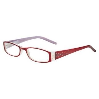 ICU Crystal Rectangle Rhinestone Reading Glasses With Sparkle Case   +1.75