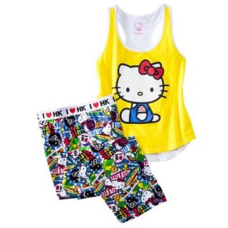 Hello Kitty Juniors PJ Set   Yellow M(7 9)