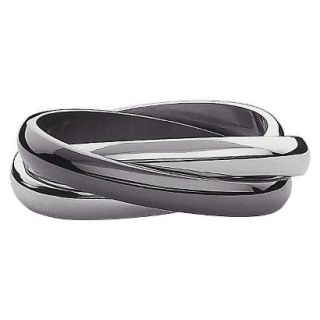 Stainless Steel 3 Band Ring Size 10   Black And White