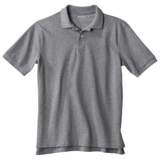 Mens Classic Fit Polo Shirt Heather Gray Grey L