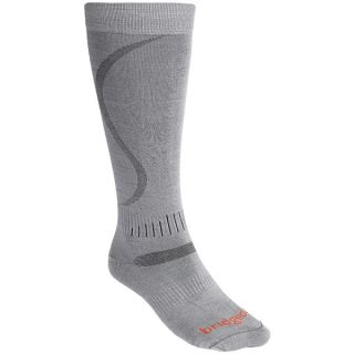 Bridgedale Ultralight Ski Socks   Merino Wool  Over the Calf (For Men)   GREY (L )