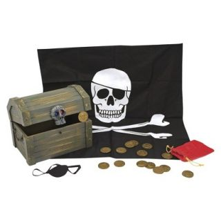 Melissa & Doug Deluxe Wooden Pirate Treasure Chest