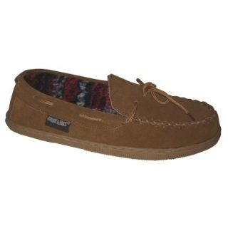 Mens Muk Luks Berber Suede Moccasin Slipper  Tan 11