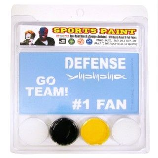 Black and Yellow Sports Fan Face Paint Set