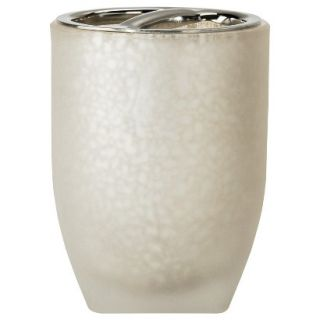 Threshold Frosted Glass Toothbrush Holder   White