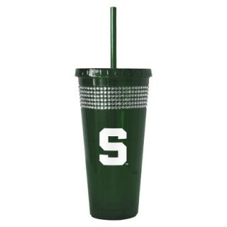 Boelter Brands NCAA 2 Pack Michigan State Spartans Bling Double Walled Tumbler