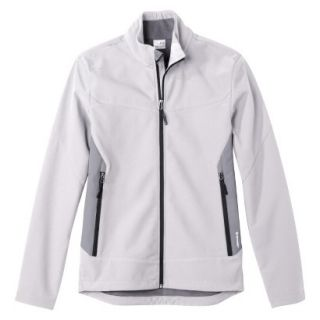 C9 by Champion Mens VentureDry Soft Shell Jacket   White/Grey L
