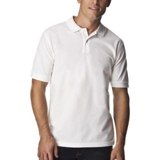 Mens Classic Fit Polo Shirt White XL