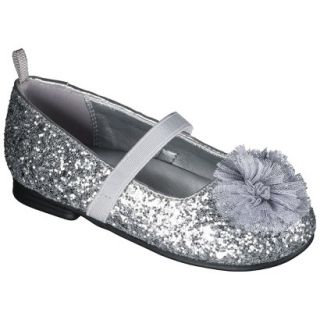 Toddler Girls Genuine Kids from OshKosh Glitter Ballet Flats   Silver 9