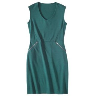 Mossimo Womens Ponte Sleeveless Dress w/ Zippered Pockets   Seaside Teal XXL