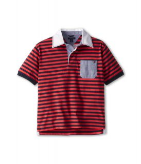 Tommy Hilfiger Kids Oliver S/S Rugby Polo Boys Short Sleeve Pullover (Red)