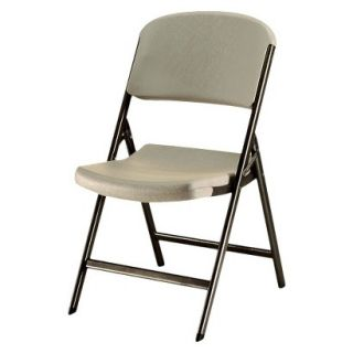 Folding Chair Lifetime Heavy Duty Folding Chair   Almond