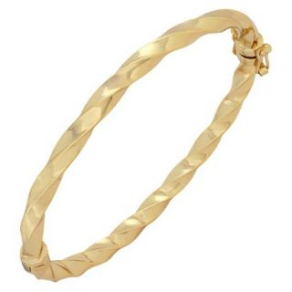 Bronze Twist Bangle   Gold