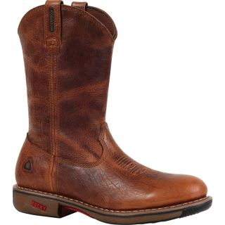 Rocky Ride 11In. Waterproof Western Boot   Palomino, Size 13, Model 4181