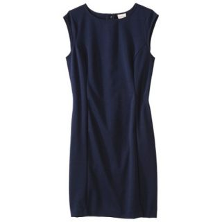 Merona Womens Ponte Sheath Dress   Xavier Navy   XS