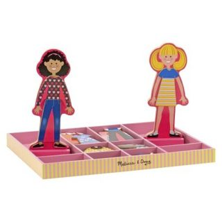 Melissa & Doug Abby and Emma Deluxe Magnetic Dress Up Set