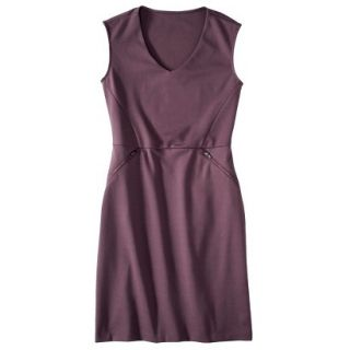 Mossimo Womens Ponte Sleeveless Dress w/ Zippered Pockets   Berry Lacquer M