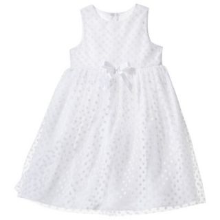TEVOLIO Infant Toddler Girls Empire Dress   White 24 M