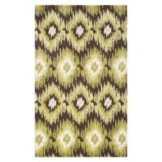 Safavieh Samira Area Rug   Dark Brown/Green (5x8)
