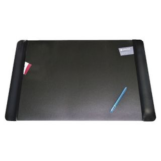 Artistic Executive Desk Pad with Leather  Like Side Panels   Black