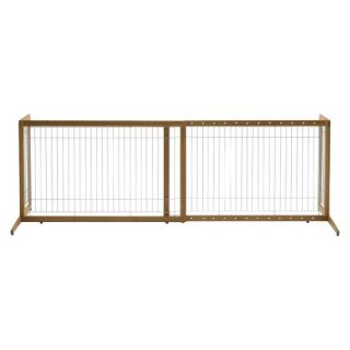Richell Tak� Freestanding One Touch Pet Gate   Bamboo