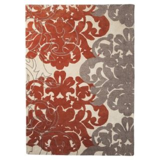 Threshold Exploded Damask Area Rug   Coral/Gray (7x10)