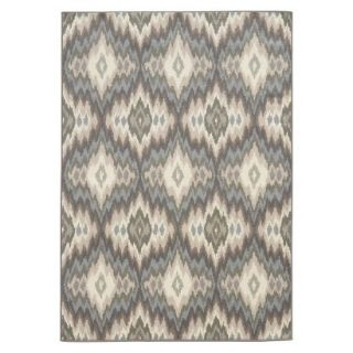 Diamond Ikat Area Rug   Blue/Cream (53x75)